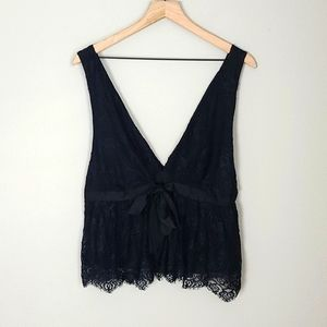 """Free People """"Chante Lace"""" Tank Top NWT"""